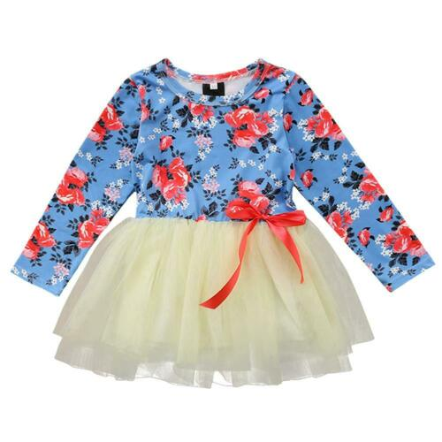 Autumn Toddler Baby Girls Clothes Dress Kids Child Clothing Skirt Infant Dresses