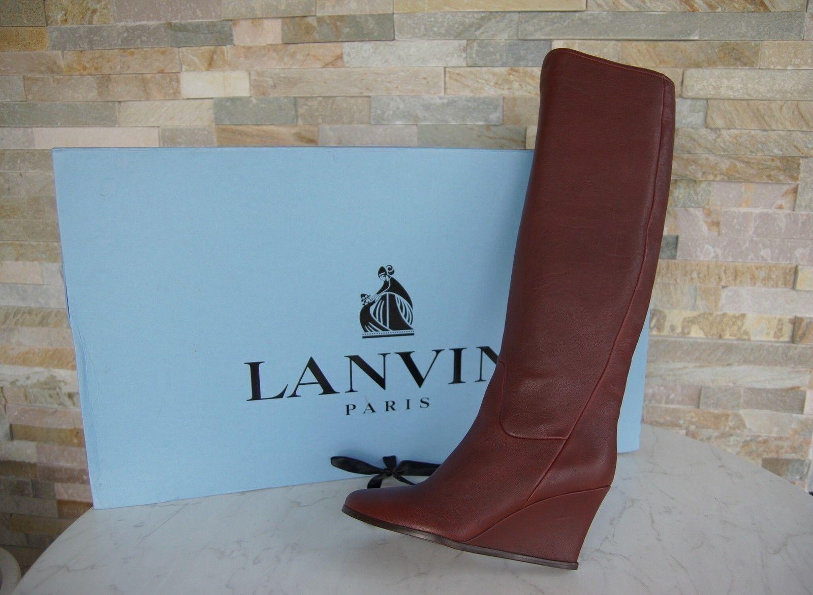 Lujo lanvin lanvin lanvin talla 36 cuña botas zapatos rojo burdeos nuevo ex. PVP  ordenar ahora