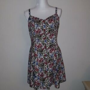 Joni-Blair-Women-039-s-Size-Medium-Vintage-Floral-Print-Sleeveless-Dress-Read
