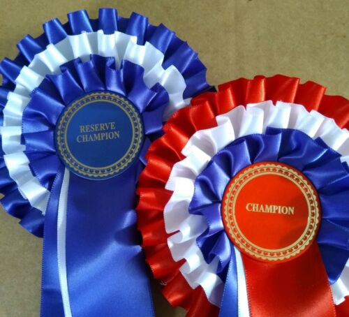 CHAMPION and RESERVE CHAMPION ROSETTES