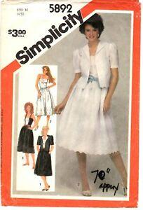 Simplicity-Sewing-Pattern-Women-039-s-SUN-DRESS-amp-JACKET-5892-Sz-14-Bust-36-034-UNCUT