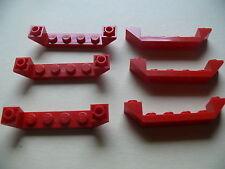 Lego 6 carenages rouges set 7942 7684 70401 60047 / 6 red slope inverted 1 x 6