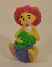 "5"" Rabbit w/ Hat & Garden Basket PVC Bath Action Figure Disney Winnie The Pooh"