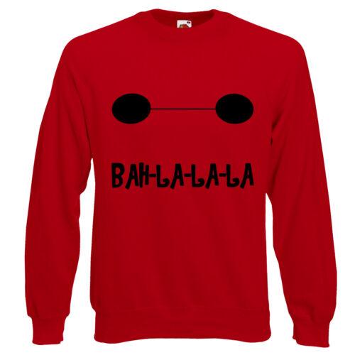 BayMax Face BAH LA LA LA Quote Big Hero 6 Hiro Jumper Sweatshirt Sweat Top AA38
