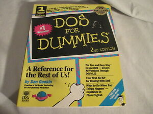 Dos For Dummies Book 2nd Edition Dos Cheat Sheet Inside Ebay