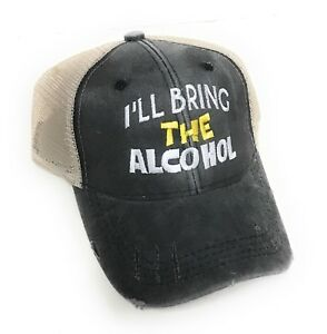 0470bb06 Custom Trucker Hat Men Women Party Bring The Alcohol Distressed ...