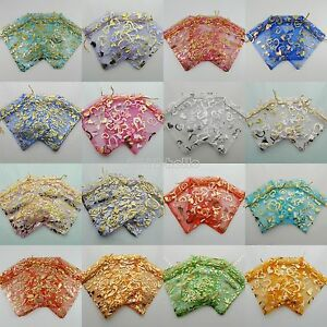 100pcs-Organza-Bags-Jewellery-Christmas-Packing-Pouches-Wedding-Party-Favour