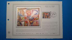 FRANCE DOCUMENT ARTISTIQUE YVERT 2473 BRAM VANVELDE PEINTRE PARIS 1987  L540
