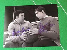 Gordon Banks & Peter Shilton Dual Signed Leicester City 1967 Press Photograph
