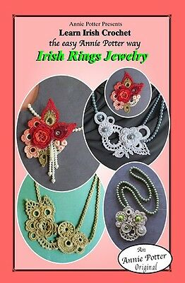 "Crochet irish jewelry /""Irish Neckscarf/"" Annie Potter Pattern"