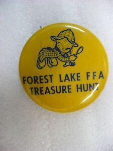 MW- FOREST LAKE FFA TREASURE HUNT (METAL PINBACK PIN BADGE) #21020
