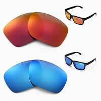 New Walleva Polarized Fire Red + Ice Blue Lenses For Oakley Holbrook