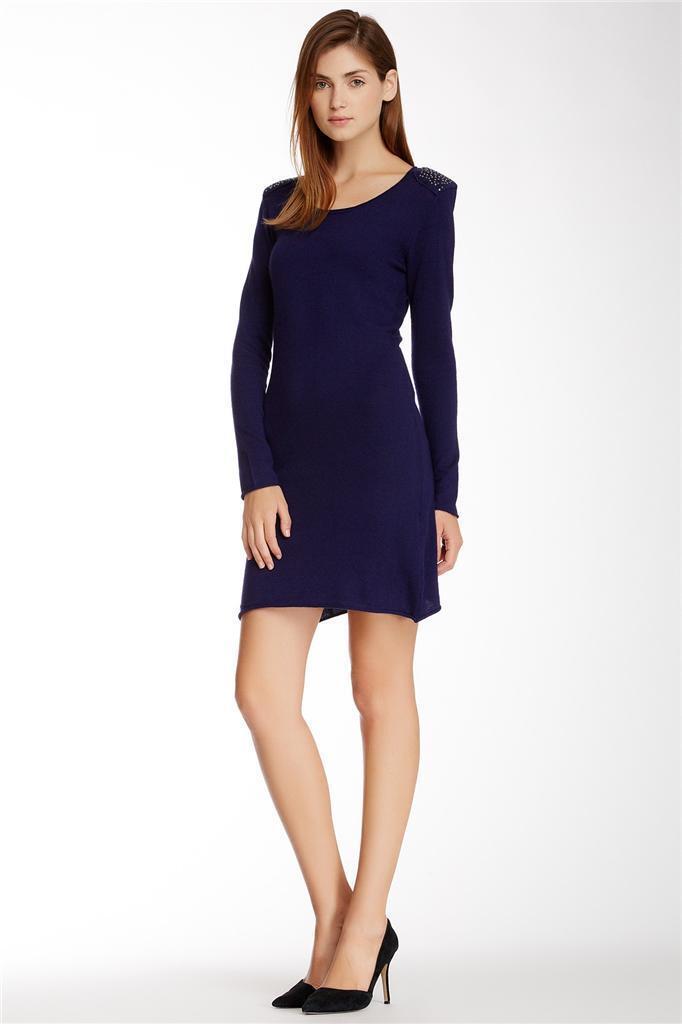 MyTribe Blau Embellished Sweater Dress Größe Medium NWT