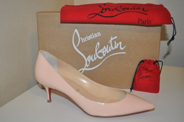 quality design 3a2f0 2c16b Christian Louboutin Pigalle Follies 55mm Patent Poudre Low Heel PUMPS Shoes  38.5