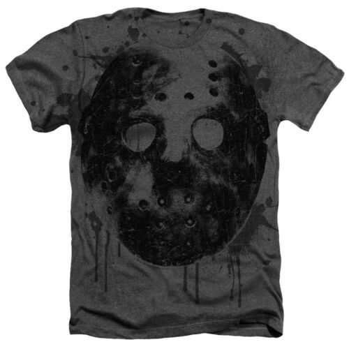 Friday the 13th Movie Big Bloody MASK Premium Heather T-Shirt All Sizes