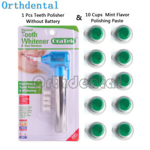 Oratek-Teeth-Polisher-amp-10-CUPS-Teeth-WHITENING-Paste-Stain-Remover-Mint-Flavor