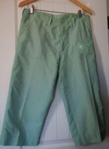 Nina Capri Melon Luz Verde Bordado Recortada Pantalones Capri Talla 8 Ebay