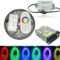 5-20M RGB 5050 waterproof LED Flexible Strip lamp tape Light RF Remote 12V power