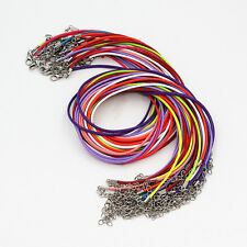 New Wholesale Lots 20 Pcs Multi Color Leather Cord Rope Necklace Chain