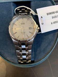 Citizen-Eco-Drive-BM6590-53A-Men-039-s-Stainless-Steel-Titanium-Watch