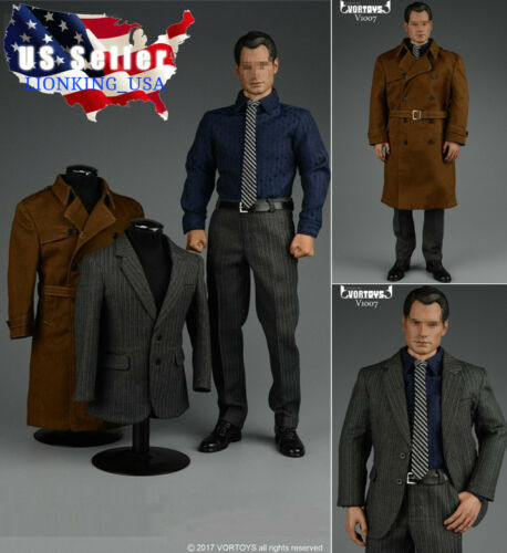 1//6 Trench Coat Suits Set For SUPERMAN Clark Kent Phicen Hot Toys Figure ❶USA❶