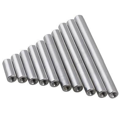 M3 Aluminum Column Round Threaded Sleeve Stud Standoff Nut Connector OD 5mm