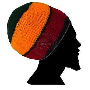 Roots Tam Jamaica Handmade Hat Cap Rastacap Reggae Jamaica Marley ... 97b59157e4f