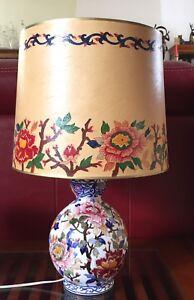 Ancien Pied De Lampe En Faience De Gien Forme Boule Decor Floral Ebay