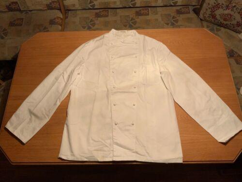 Bäckerjacke Kochjacke Baumwolle weiß m.Knopfleiste Gr. 54