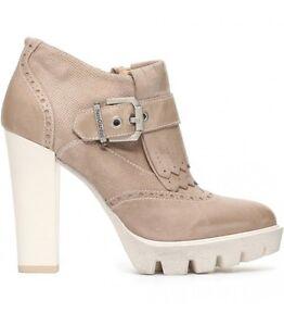 Tronchetto scarpa pelle donna safari champagne frangia P717100 NERO GIARDINI