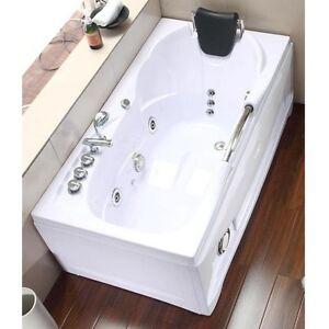 Vasca idromassaggio da bagno 153x85 rettangolare con 9 getti miscelatore metallo ebay - Miscelatore vasca da bagno ...