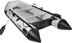Schlauchboot-Nemax-330cm-2-Sitzbaenken-aufblasbarer-Kiel-Paddelboot-Karpfen