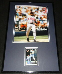 Terry-Pendleton-Signed-Framed-11x17-Photo-Display-Braves