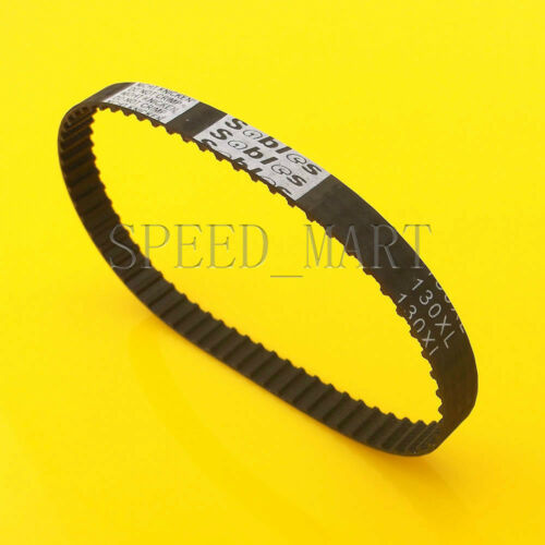 130XL 130XL037 Timing Belt 65 Teeth Black Cogged Rubber Geared Belt 10mm Wide