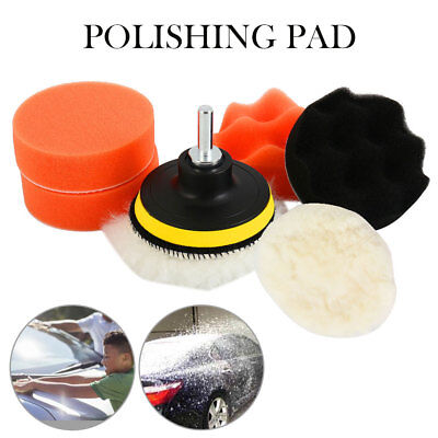 Car Polishing Buffing Gross M10 Buffer Polisher Pads with Drill Adapter 5pcs