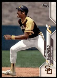 2020 Topps Series 2 Base Variation SP #556 Dave Winfield - San Diego Padres