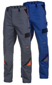 ARBEITSHOSE-Bundhose-320g-Arbietskleidung-Sicherheitshose-Grau-Blau-Gr-44-64
