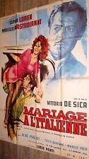 sofia loren MARIAGE A L' ITALIENNE  vittorio de sica mastroianni affiche 1964