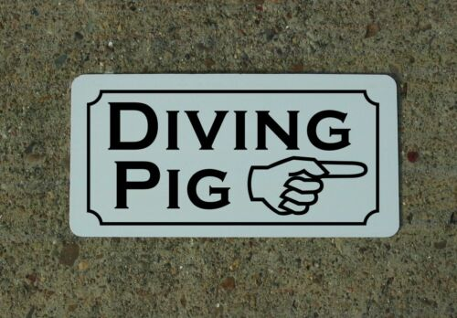 DIVING PIG Vintage Style Metal Sign 4 Carnival Circus Fair Freak Show Man Cave