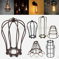 Wire Bulb Cage Clamp On Lamp Guard Vintage Industrial Trouble Lights Pendant Diy