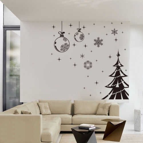 wall stickers UK  08 Christmas tree Decals Snowflake String Shop Window