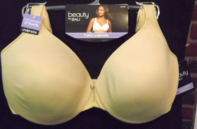 86cd6d6c00 BALI NUDE BEAUTY BY BALI T-SHIRT CONVERTIBLE UNDERWIRE BRA SIZE 40DD NEW  TAGS