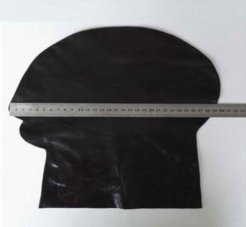 Unisex Latex Mask Full Covered Black Hood