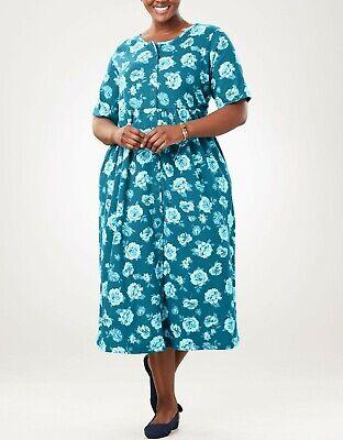 Woman Within Petite Plus Size Navy Button Front Empire Waist Dress Size 3X    eBay