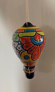 Authentic Talavera Ceramic Hot Air Balloon Indoor//Outdoor