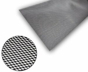 1x-Black-Aluminium-Grille-Grill-Mesh-Net-Vent-Bumper-5x3mm-100x30cm