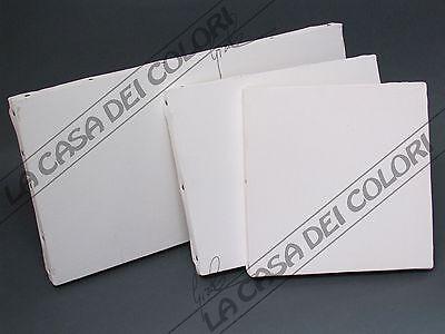 Grana Fine 80x100cm Cotone 100% Prep Olio Telaio Telato Graffato Retro Jade White