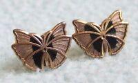 Vintage 1970s Small Cloisonne ENAMEL Butterfly Stud EARRINGS