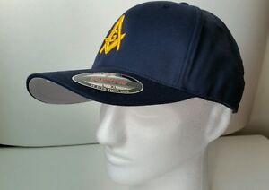 61bf11414 Details about Masonic Hat Masonry 3D Puff Embroidery Yupoong Flexfit Dark  Navy Mason Emblem /G