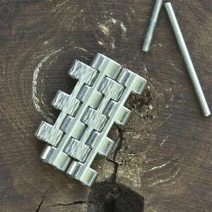 2-steel-links-for-vintage-NSA-watch-bracelet-polished-amp-bark-NOS-Novavit-links